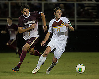 The Winthrop University Eagles played the College of Charleston Cougars at Eagles Field in Rock Hill, SC.  College of Charleston broke the 1-1 tie with a goal in the 88th minute to win 2-1.  Adam Brundle (12), Connor Coons (17)