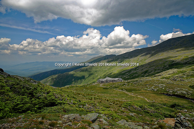 Lakes of the Clouds Hut, Mt. Washington, White Mountains National Forest, New Hampshire, USA
