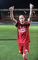KV Kortrijk - AA Gent.Laurent Ciman bedankt de supporters.foto VDB / BART VANDENBROUCKE