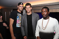 NEW YORK, NY - SEPTEMBER 26:..Brook Lopez, Kris Humphries & Meek Mill attend the NBA 2K13 Premeire at 40/40.....© Walik Goshorn / Retna Ltd. /MediaPunch Inc. /NortePhoto