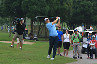 Alex Noren (Europe) on the 6th fairway during the Saturday Foursomes of the Eurasia Cup at Glenmarie Golf and Country Club on the 13th January 2018.<br /> Picture:  Thos Caffrey / www.golffile.ie