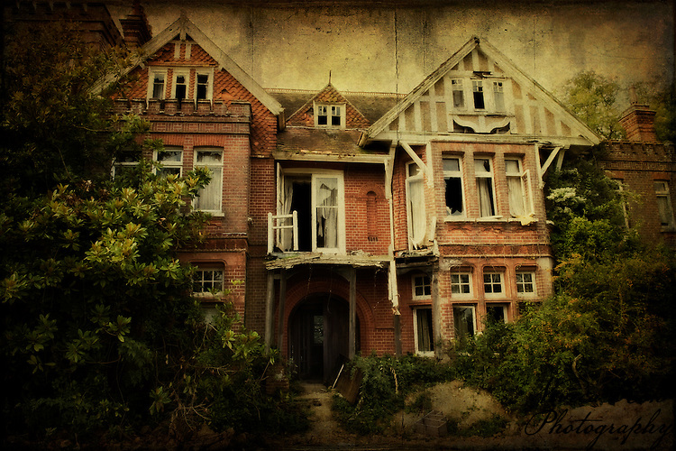 Abandoned manor house