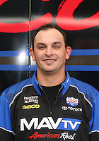 Feb. 14, 2013; Pomona, CA, USA; NHRA crew member for top fuel dragster driver Brandon Bernstein during qualifying for the Winternationals at Auto Club Raceway at Pomona.. Mandatory Credit: Mark J. Rebilas-