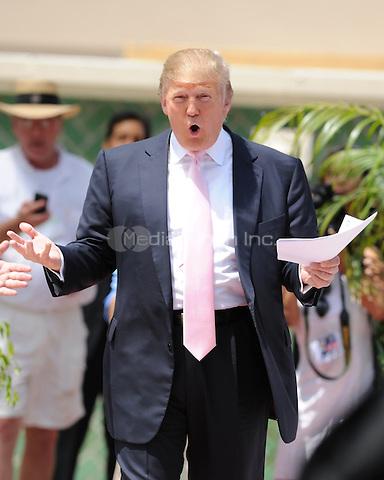 BOCA RATON, FL - APRIL 16 : Donald Trump Speaks at South Florida Tax Day Tea Party Rally at Sanborn Square n Sunrise Florida. April 16, 2011. © MPI04 / Media Punch Inc.