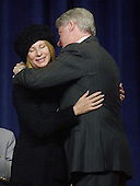 Barbra Streisand receives the National Medal of Arts from U.S. President Bill Clinton on Wednesday, December 20, 2000 at DAR Constitution Hall in Washington, D.C.  .Credit: Ron Sachs / CNP