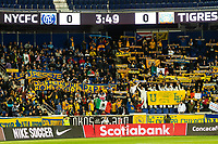 HARRISON, NJ - MARCH 11: Tigres UANL fans during a game between Tigres UANL and NYCFC at Red Bull Arena on March 11, 2020 in Harrison, New Jersey.