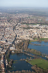 The  Thames, Oxford in  flood . <br /> View of Oxford, looking  North  <br /> Christchurch meadow and the flooded Thames to the bottom of the image.
