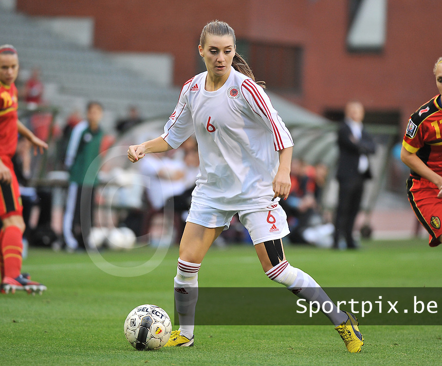 20130921 - BRUSSELS , BELGIUM : Albanian Memedov Dafina pictured during the female soccer match between Belgium and Albania , on the first matchday in group 5 of the UEFA qualifying round to the FIFA Women World Cup in Canada 2015 at the Koning Boudewijn Stadion , Brussels . Saturday 21th September 2013. PHOTO DAVID CATRY