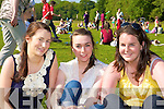 Gemma Kavanagh, Louise Doyle and Triona Sheehan Killarney soaking up at the sun the Mad Pride family fun day in Knockreer, Killarney on Saturday
