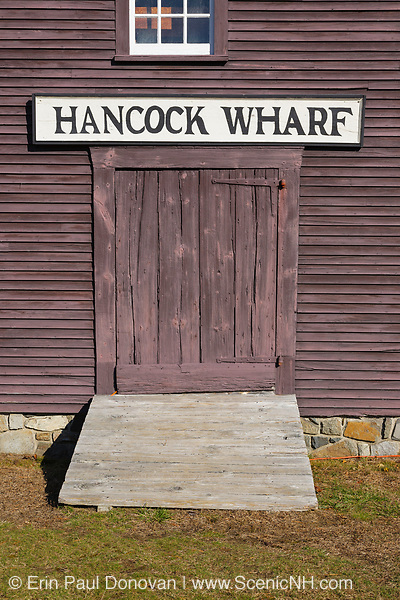The John Hancock Warehouse and  Wharf located in York, Maine USA which is part of the New England seacoast