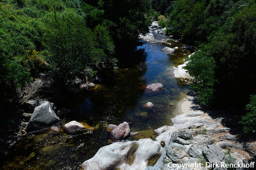 Fluss Guagno nahe Vico, Korsika, Frankreich