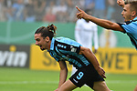 11.08.2019, Carl-Benz-Stadion, Mannheim, GER, DFB Pokal, 1. Runde, SV Waldhof Mannheim vs. Eintracht Frankfurt, <br /> <br /> DFL REGULATIONS PROHIBIT ANY USE OF PHOTOGRAPHS AS IMAGE SEQUENCES AND/OR QUASI-VIDEO.<br /> <br /> im Bild: Valmir Sulejmani (SV Waldhof Mannheim #9) jubelt ueber sein Tor zum 1:0 mit Maurice Deville (SV Waldhof Mannheim #14)<br /> <br /> Foto © nordphoto / Fabisch