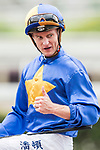 Jockey Zac Purton riding Club Life celebrates after winning the Race 4 - South China Sea Handicap on 07 May 2017, at the Sha Tin Racecourse  in Hong Kong, China. Photo by Chris Wong / Power Sport Images