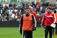 Wednesday, 23 April 2014<br /> Pictured: Ben Davies<br /> Re: Swansea City FC are holding an open training session for their supporters at the Liberty Stadium, south Wales,