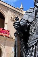 "Denkmal ""Alfonso X el Sabio"" auf der Plaza Mayor  in Lorca,  Provinz Murcia, Spanien, Europa"