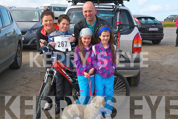 FAMILY: The Kenny-O'Sullivan family from Kilmoyley who took part in the Kerryhead Resourse Centre Ballyheigue 10k and 5k run on Sunday to raise funds for the centre on Sunday in Ballyheigue, Rían,Jill,Caragh and Coilinn Kenny-O'Sullivan and Gerard Kenny.