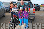 FAMILY: The Kenny-O'Sullivan family from Kilmoyley who took part in the Kerryhead Resourse Centre Ballyheigue 10k and 5k run on Sunday to raise funds for the centre on Sunday in Ballyheigue, Rían,Jill,Caragh and Coilinn Kenny-O'Sullivan and Gerard Kenny.