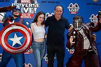 LOS ANGELES - JUL 8:  Captain America, Stella Gregg, Clark Gregg, Star-Lord at the Marvel Universe Live Red Carpet at the Staples Center on July 8, 2017 in Los Angeles, CA