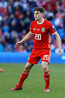 Daniel James of Wales in action during the UEFA EURO 2020 Qualifier match between Wales and Slovakia at the Cardiff City Stadium, Cardiff, Wales, UK. Sunday 24 March 2019