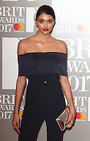 Neelam Gill at The BRIT Awards 2017 at The O2, Peninsula Square, London on February 22nd 2017<br /> CAP/ROS<br /> &copy; Steve Ross/Capital Pictures /MediaPunch ***NORTH AND SOUTH AMERICAS ONLY***