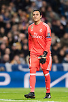 Goalkeeper Keylor Navas of Real Madrid in action during the Europe Champions League 2017-18 match between Real Madrid and Borussia Dortmund at Santiago Bernabeu Stadium on 06 December 2017 in Madrid Spain. Photo by Diego Gonzalez / Power Sport Images