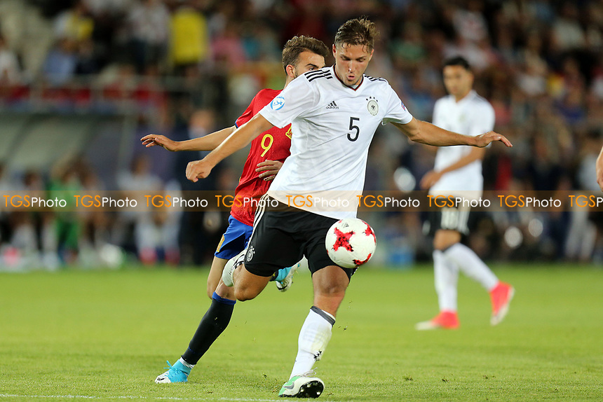 Niklas Stark of Germany and Borja Mayoral of Spain during Germany Under-21 vs Spain Under-21, UEFA European Under-21 Championship Final Football at Krakow Stadium on 30th June 2017