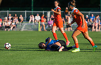 Kansas City, MO - Sunday July 02, 2017:  Sydney Leroux after being fouled during a regular season National Women's Soccer League (NWSL) match between FC Kansas City and the Houston Dash at Children's Mercy Victory Field.