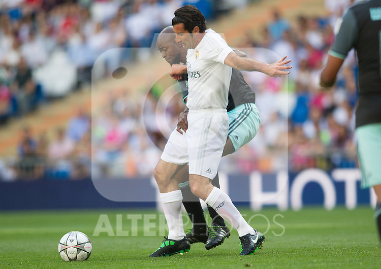 Luis Figo and Wiston Bogarde during the Corazon Classic Match 2016 at Estadio Santiago Bernabeu between Real Madrid Legends and Ajax Legends. Jun 5,2016. (ALTERPHOTOS/Rodrigo Jimenez)