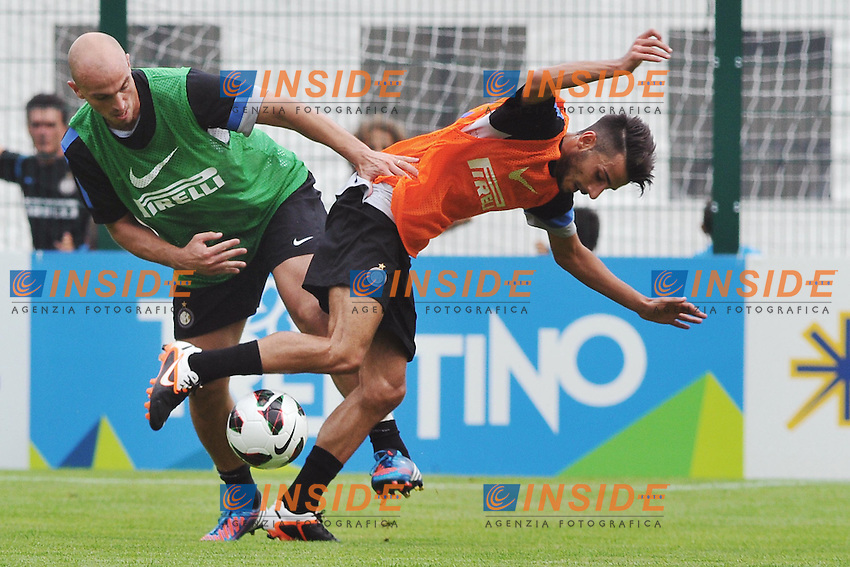 Esteban Cambiasso .Pinzolo (TN) 10/07/2012 Campo sportivo La Pineta .Football Calcio 2012/2013 Amichevole.Foto Insidefoto Christian Mantuano