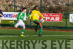 Daniel Okut streches the Ferrybank defence during their FAI cup clash in Celtic Park on Saturday