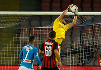 Gianluigi Donnarumma  during the  italian serie a soccer match,  SSC Napoli - Milan      at  the San  Paolo   stadium in Naples  Italy , August 25, 2018