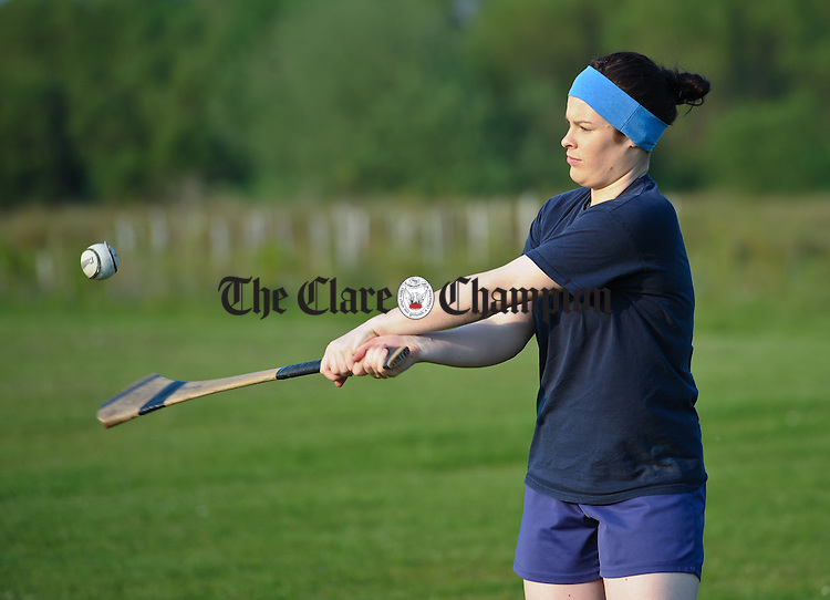 Clare Senior camogie captain Susan Vaughan at a training session in preparation for their Munster final against Cork. Photograph by John Kelly.