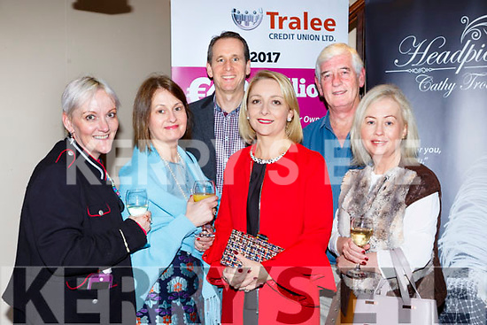 Jill Hannon, McAulliffe Bill Costello, Lisa Geaney, Jerome Stack and McAulliffe at the Castleisland Fashion show in the Ivy Leaf on Thursday night