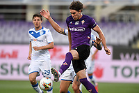 Dusan Vlahovic of Fiorentina in action during the Serie A football match between ACF Fiorentina and Brescia Calcio at Artemio Franchi stadium in Florence ( Italy ), June 22th, 2020. Play resumes behind closed doors following the outbreak of the coronavirus disease. <br /> Photo Antonietta Baldassarre / Insidefoto