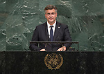 72 General Debate – 20 September <br /> <br /> by His Excellency Andrej Plenković, Prime Minister of Croatia