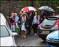 BNPS.co.uk (01202 558833)Pic: GrahamHunt/BNPS<br /> <br /> Yasmin and James led the procession with their daughter at the funeral of tragic Jaiden Mangan in Wareham.<br /> <br /> <br /> A 'frustrated' lorry driver mowed down and killed a young boy because he had been distracted by 'sarcastically clapping' another motorist to see lights change, a court heard.<br /> <br /> Dean Phoenix did not notice the red light at a pedestrian crossing that allowed three-year-old Jaiden Mangan to cross in front of him as he was 'swearing and gesticulating' at the time, it is alleged.<br /> <br /> The 44-year-old pulled away to drive around an illegally parked car that was blocking his path and struck Jaiden who was riding a balance bike.<br /> <br /> The youngster suffered severe head injuries and died later in hospital. <br /> <br /> Phoenix is on trial for causing death by dangerous driving.