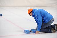 SCHAATSEN: LEEUWARDEN, 22-10-2016, Elfstedenhal,  KNSB Trainingswedstrijden, sensor tijdwaarneming, ©foto Martin de Jong