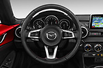Car pictures of steering wheel view of a 2016 Mazda MX-5 Skycruise 2 Door Convertible Steering Wheel