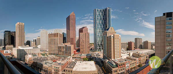 Downtown Calgary panorama.