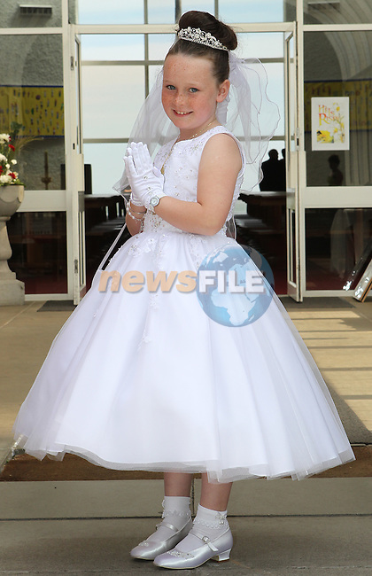 Kayleigh McCluskey pictured on first communion day in Laytown.<br /> Picture: www.newsfile.ie
