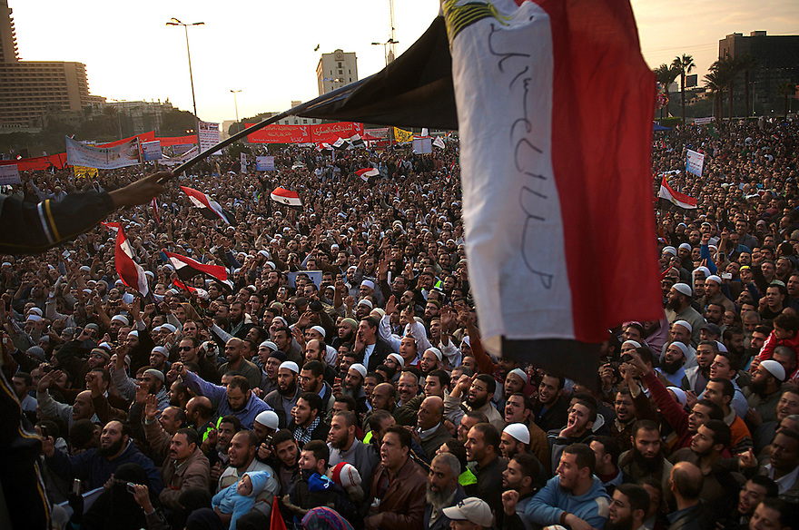 Thousands of Islamist and secular protesters gathered in Cairo's Tahrir Square today for a mass rally to press the ruling military to hand over power to a civilian government.