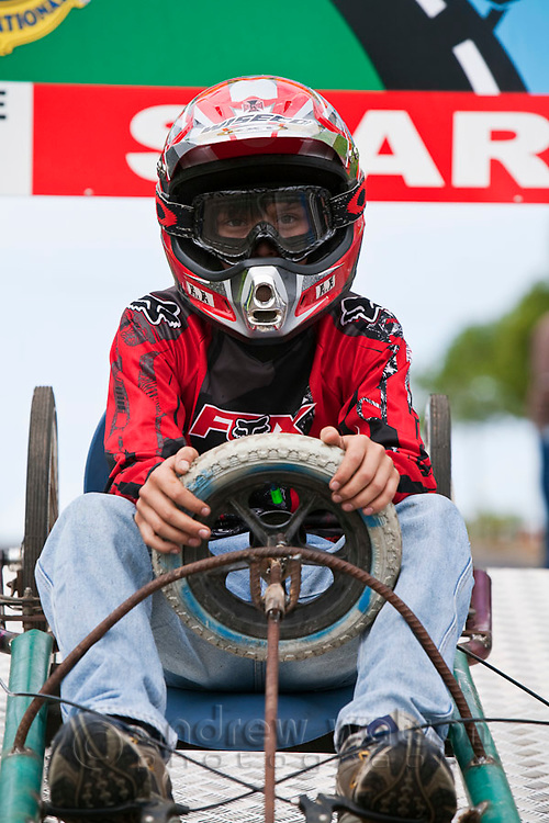 Billy cart racing during the annual Cooktown Discovery Festival (held in June).  Cooktown, Queensland, Australia