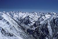Europe/France/Midi-Pyrénées/09/Ariège: Etang de Gnioure- Pyrénées ariégeoises Vue aérienne