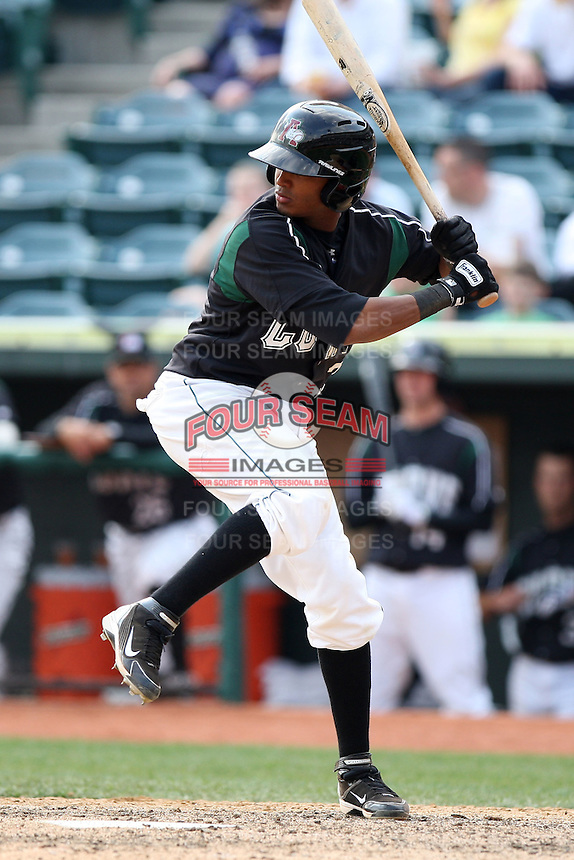 April 11, 2010:  Jose L de los Santos of the Altoona Curve during a game at Blair County Ballpark in Altoona, PA.  Altoona is the Double-A Eastern League affiliate of the Pittsburgh Pirates.  Photo By Mike Janes/Four Seam Images