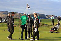 Mark Power from Ireland secures his point at the 18th green during Round 3 Singles of the Men's Home Internationals 2018 at Conwy Golf Club, Conwy, Wales on Friday 14th September 2018.<br /> Picture: Thos Caffrey / Golffile<br /> <br /> All photo usage must carry mandatory copyright credit (&copy; Golffile | Thos Caffrey)