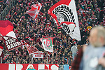 08.02.2019, RheinEnergieStadion, Koeln, GER, 2. FBL, 1.FC Koeln vs. FC St. Pauli,<br />  <br /> DFL regulations prohibit any use of photographs as image sequences and/or quasi-video<br /> <br /> im Bild / picture shows: <br /> Fans, freundlich, Stimmung, farbenfroh, Nationalfarbe, geschminkt, Emotionen, kölner<br /> <br /> Foto © nordphoto / Meuter