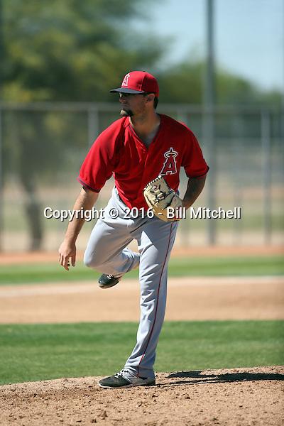Garrett Nuss - Los Angeles Angels 2016 spring training (Bill Mitchell)