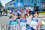 Chrissie McLoughlin, Causeway, Geraldine Griffin, Clahane, Tralee, Mairead O'Sullivan, Leith and Sonia Sheehan, Listowel Members of the Irish Nurses and Midwives Organisation (INMO) working in the Emergency Department (ED) held lunchtime protest at University Hospital Kerry on Tuesday.