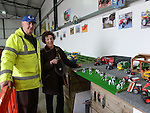 Dan and Anna Flynn pictured at the model exhibition at the tractor run in Dunleer in aid of SOSAD. Photo:Colin Bell/pressphotos.ie