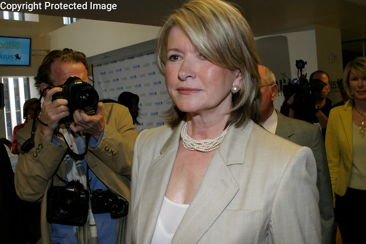 Martha  Stewart leaving  the press conference..SIRIUS Satellite Radio and Martha  Stewart Living Omnimedia, Inc announcing an exclusive four-year agreement to create and launch a Martha's branded satellite radio channel at the SiRIUS HQ in Midtown Manhattan..The channel will provide programming specifically designed for women and their families.